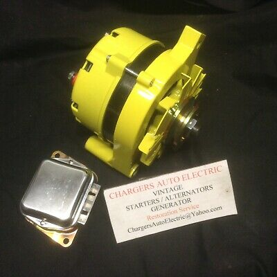1974-78 Ford Mustang 2 100 Amp High Output Alternator Powder Coated Yellow