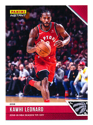 2018-19 Panini Instant Kawhi Leonard 1St Toronto Raptors Card Ever! Sp/330! Hot!