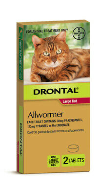 Drontal All-Wormer for Big Cats 6kg - 2 Tablets - New Shape