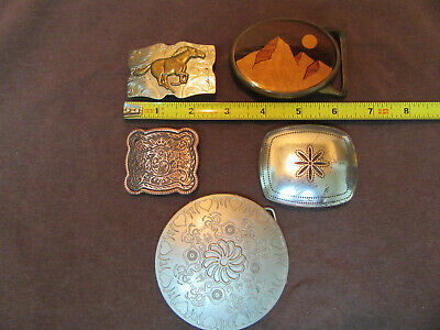Vintage Western Style Belt Buckle Lot of  5 Buckles.