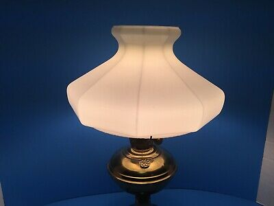 "Vintage Aladdin 10"" Fitter 9 Sided Milk Glass Oil Lamp Shade B&H Rayo VGC!"