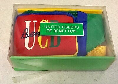 Vintage 1980s United Colors Of Benetton Colour Block Bum Bag Fanny Pack Unused!