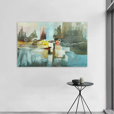 *Abstract* Hand Painted Art Canvas Oil Painting Modern Home Decor - Framed