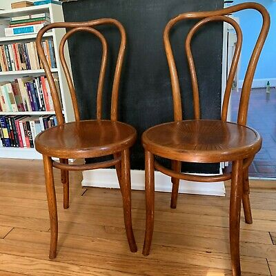 Two vintage bentwood chairs by Fischel, imported from Czechoslovakia