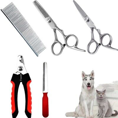 Pet Professional Dog Cat Grooming Set Clippers Scissors Hair Nail Trimmer Kit