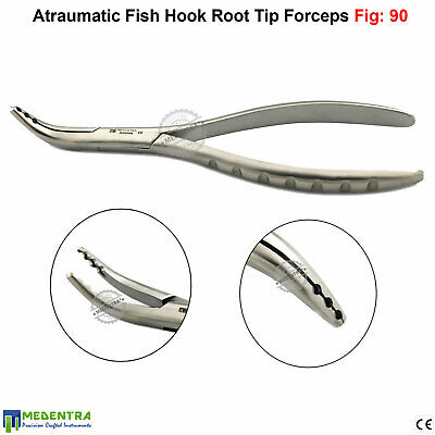 Medentra® Upper & Lower Fig 90 Atraumatic Fish Hook Root Tip Extracting Forceps