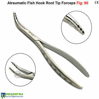 Fish Hook Root Tip Extracting Atraumatic Teeth Broken Surgical Forceps Fig 90 CE