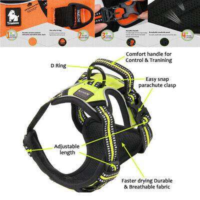 3M Reflective Dog Pet Harness Outdoor Walking Safety No-pull Vest Jacket Padded