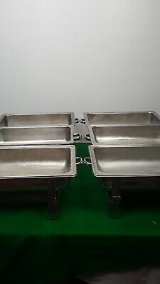 Set of 6 Stainless Steel Sunnex Chaffing Dishes Hot Food Buffet Catering