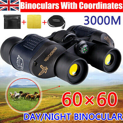 High Clarity HD 60x60 Military Army Optics Zoom Binoculars Day/Night Telescope
