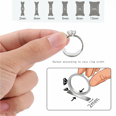 10pcs Transparent Ring Size Adjusters Shrinking Invisible Jewelry Reducers US