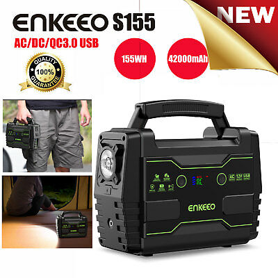 155Wh Portable Power Supply Station Solar Panels Electric Generator Emergency ES