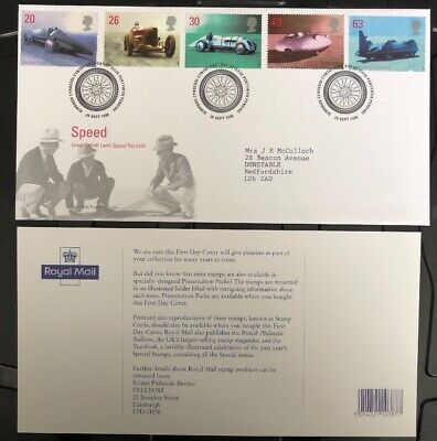 GB FDC 1998 Speed With Special Hand Stamp