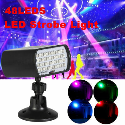 48LEDs Stage Light Strobe Effect DJ Disco Party Light Sound Voice Control Flash