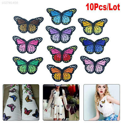 2605 10pcs Butterfly Patch Patches Embroidery Iron On Badge Fabric Applique DIY