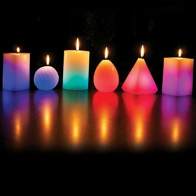 Wax Magic Candle Changing Colour LED Lights Scented Candles Real Wax Long Wick