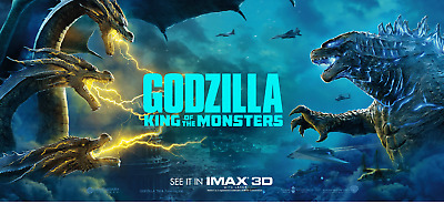 Godzilla: King of the Monsters movie Vinyl POSTER 40x18 King Ghidorah #B banner