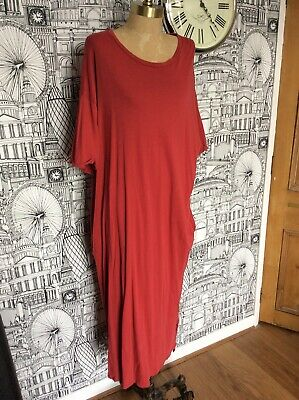 9f23b852 Zara Trafaluc Oversized Red Relaxed Fit T-shirt Dress With Pockets. Size  Large.