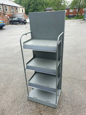Used Metal Shelving Units With Lockable Castors £55 Each + Vat