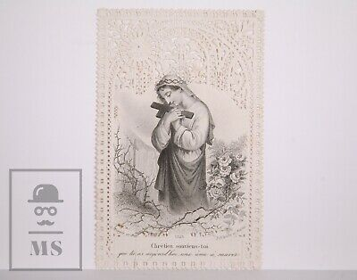 Antique Paper Lace Holy Card - Roses & Thorns - L. Turgis Ed., France