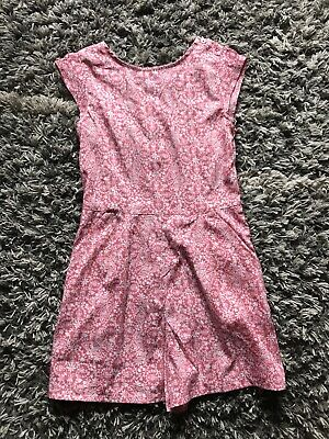 Next Girls Pink Floral Ditsy Summer Playsuit Age 10 Years