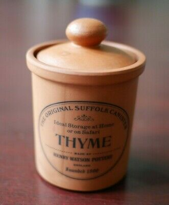The Original Suffolk Canister Henry Watson Pottery THYME