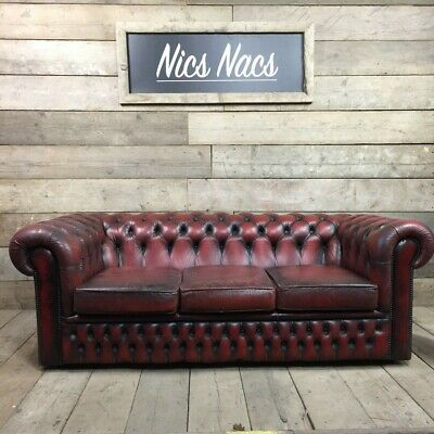 Oxblood Red Leather Chesterfield