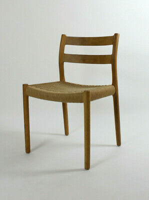 Niels Otto Møller Stuhl/chair, Modell No. 84, Eiche/oak, 70er, danish design