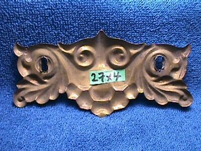4 MATCHING Antique ART NOUVEAU Brass ORNATE Drawer Hardware BACKPLATES + Pulls