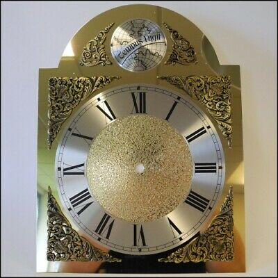 Long Case Brass Engraved Clock Dial Roman Numerals Size 250mm x 330mm - CD242