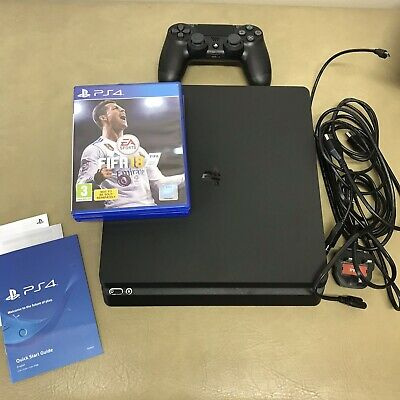 Sony PlayStation 4 Slim 500GB Black Console with FIFA 18 Bundle