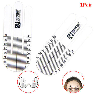 2Pcs Special Optical PD Ruler Pupil Height Meter Eye Ophthalmic Tool for GlassA!