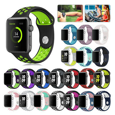 Replacement Silicone Wrist Bracelet Sport Band Strap For Apple Watch 40/44 38/42