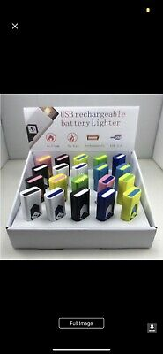 Lot Of 20. Counter Display  USB Electric Battery Rechargeable Lighter Cigarette.