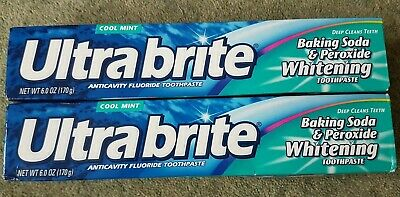 Ultra Brite Baking Soda & Peroxide Whitening  Toothpaste Cool Mint, X 2