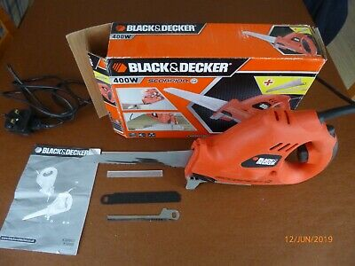 hand held 240v mains electric saw, Black & Decker Scorpion Saw with 3 blades