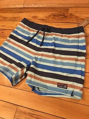 """2e33382cfc Patagonia Mens Stretch Wavefarer 16"""" Volley Shorts Atol Blue Size Large $69"""