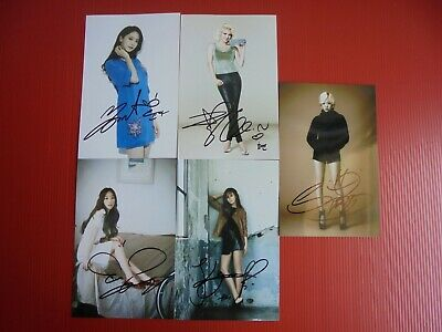 SNSD 5 photos 4 x 6 inches SNSD all member hand signed autograph