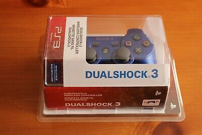 Factory Sealed Official Sony Playstation PS3 Wireless Dualshock Controller Blue