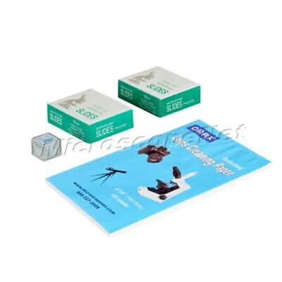 Microscope and Camera Lens Cleaning Paper+100PC Blank Glass Slides+Cover Slips