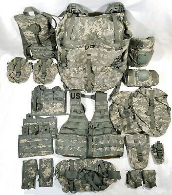 US Molle II Large RuckSack w/Frame ACU+Hydration/Rifleman Set=Vest+16 Pouch LOT