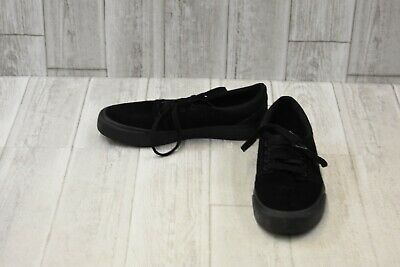 DC Shoes Trase SD Suede Skate Shoes, Men's Size 6.5, Black NEW
