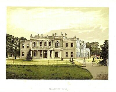 Rolleston Hall, Staffordshire - Seat of the Mosley Baronets - WB Eng. - c1865