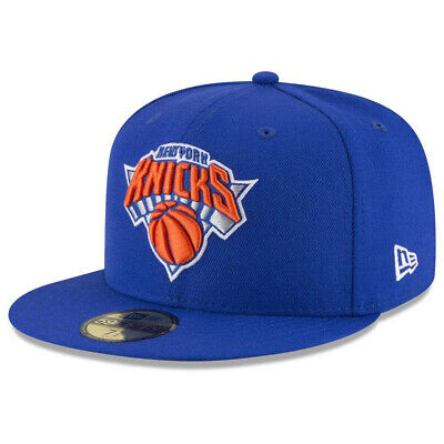 pretty nice a8036 a097b NEW ERA NBA New York Knicks 59FIFTY Solid Team Fitted Hat Cap