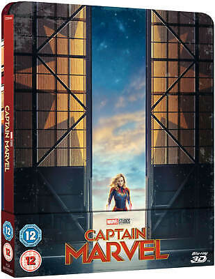 Captain Marvel 3D + 2D Blu-Ray Steelbook UK Zavvi Limited Edition New PreSale