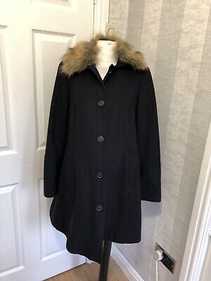 (263) Red Herring By Debenhams Maternity Coat Size 12 NAVY BLUE