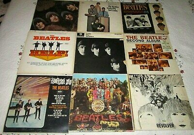 Nine Beatles Mono Vinyl LPs-Includes With The Beatles;Sgt Pepper;Yesterday&Today
