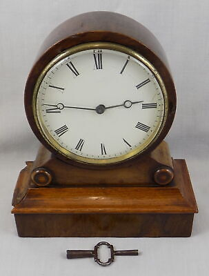 Antique Small Drum Head Mantel Clock With Platform Escapement - Fully Working
