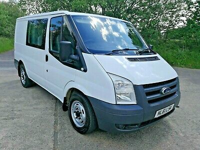2011 FORD TRANSIT 2.2l 5 SPEED SWB FACTORY 6 SEATER CREW CAB - NO RESERVE