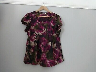 Marks and Spencers Ladies top pink mix Size 16 floral